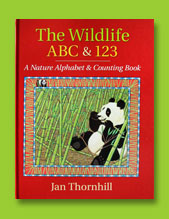 Wildlife ABC & 123 cover - scratchboard illustration
