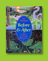 Before & After cover - qouache illustration